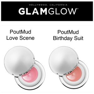 2 NEW GLAMGLOW POUTMUD: LOVE SCENE & BIRTHDAY SUIT